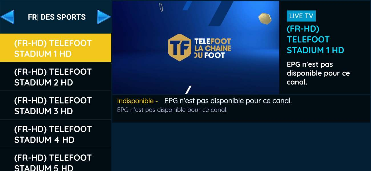 Best IPTV GOLD 12 MOIS France liste chaine crystal Telefoot